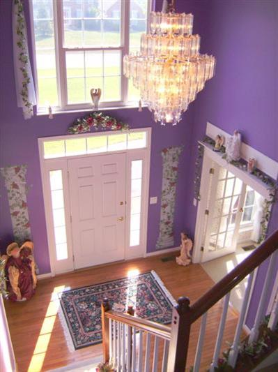 Purple Foyer Paint : The purple angel house hooked on houses