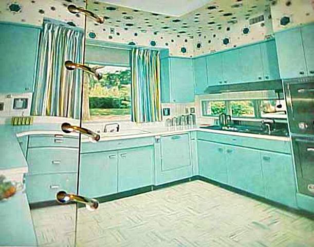 Aqua 50s Kitchen In BHG Book 1956