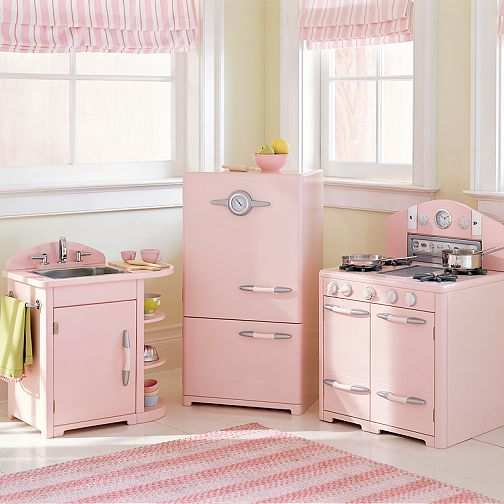 Pink Pottery Barn Kitchen For Kids Hooked On Houses