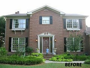 Myquillyn Smith's red brick house before makeover