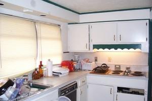 white kitchen before makeover