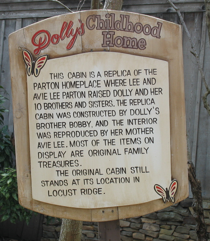 Dolly Parton's Childhood Home Cabin at Dollywood