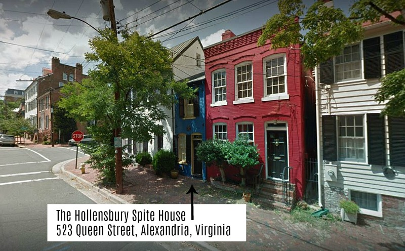 The Hollensbury Spite House in Alexandria VA 523 Queen St