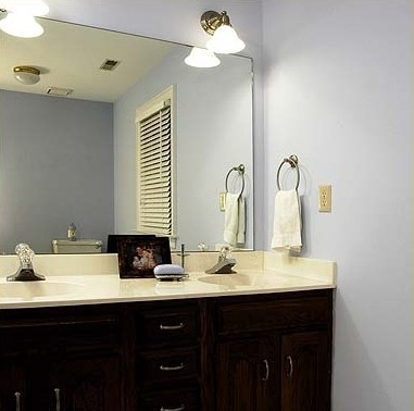 large framed mirror for bathroom before amp after bathroom mirror makeovers hooked on houses 23616