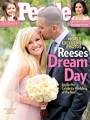 Reese Witherspoon's wedding on cover of People magazine