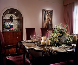 Madonna's NY apartment in AD - dining rm