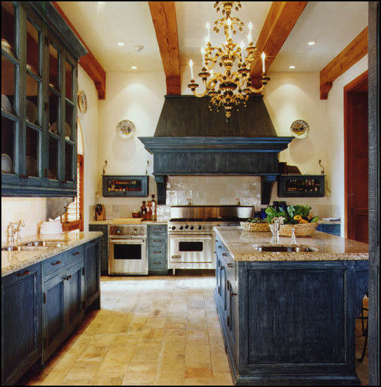 French Country Kitchen Cabinet Colors: Kitchen Question: Black Or White?