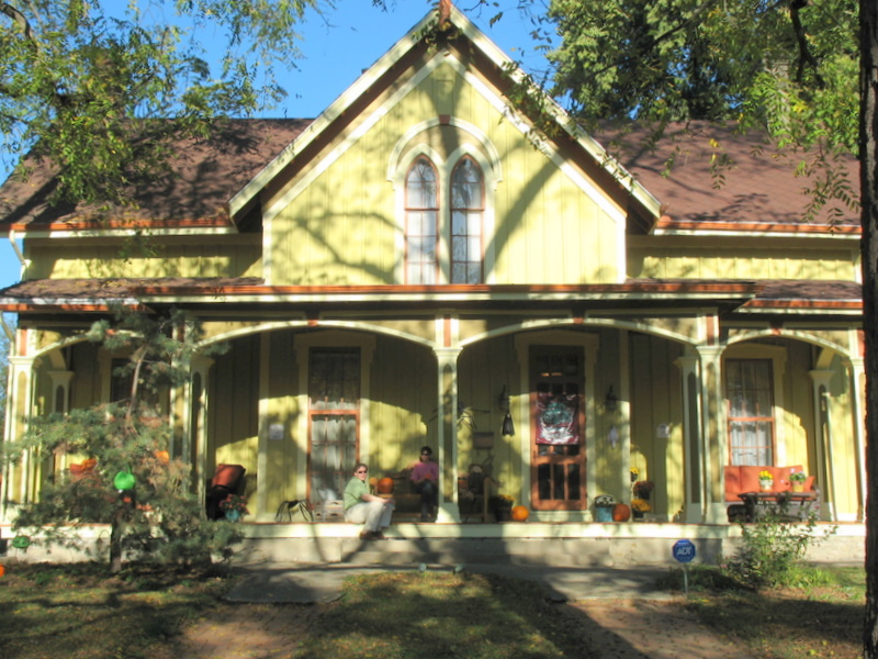 This Gothic Revival home built in 1855 was one of my absolute favorites on the tour.