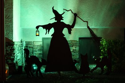 cut out of a witch for halloween