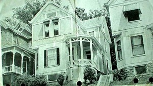 An old photo of a house