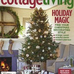 cover of Cottage Living magazine 2008 edition with Christmas tree