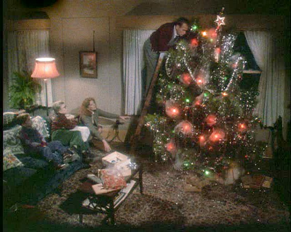 A Christmas Story movie house Christmas tree