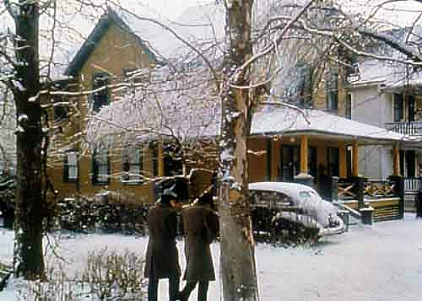 Christmas Story movie house in snow