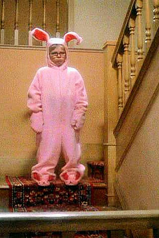 Ralphie in the pink bunny suit Christmas Story movie