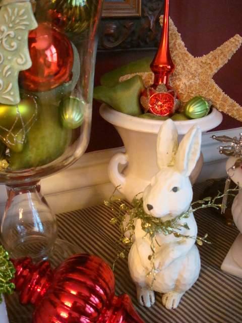 a Christmas bunny