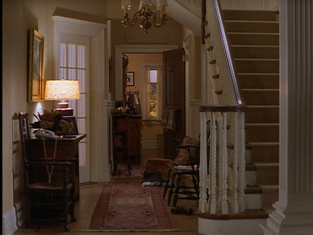 Jackie's front hall and staircase.