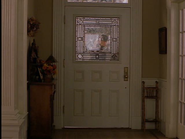 The front door of Jackie's house (from the inside).