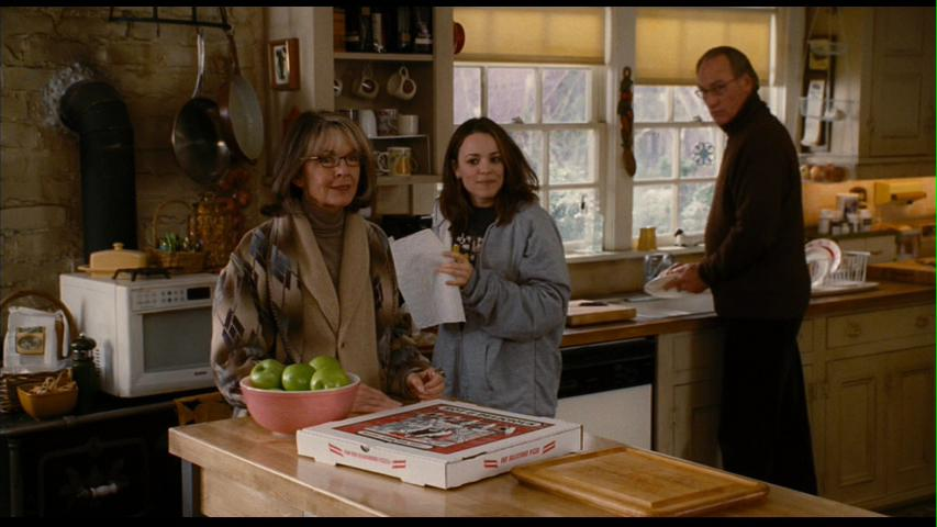 Rachel McAdams and Diane Keaton standing in the kitchen