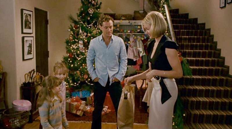 Jude Law Cameron Diaz The Holiday staircase