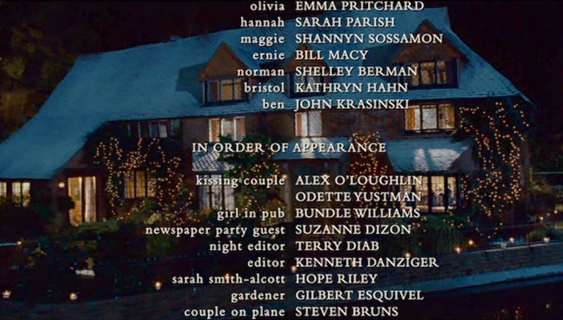 The Holiday Mill House during credits