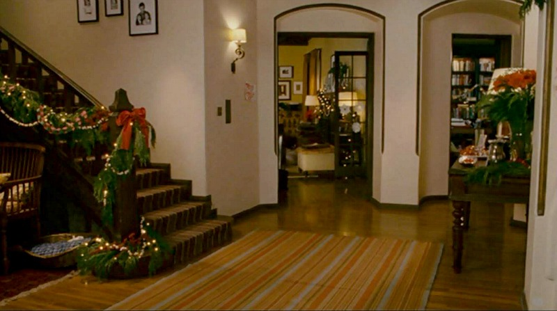 The Holiday Mill House entry hall