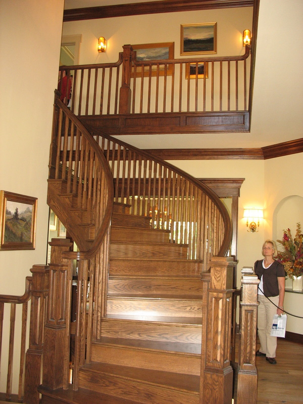 Front staircase off the entry.
