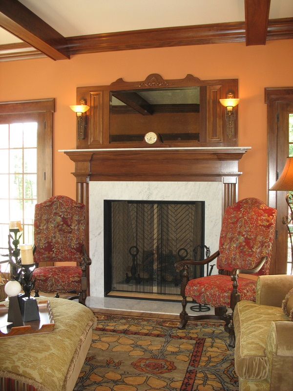Fireplace in the living room.