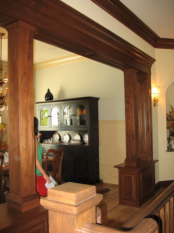 Entry off the main hall to the dining room.