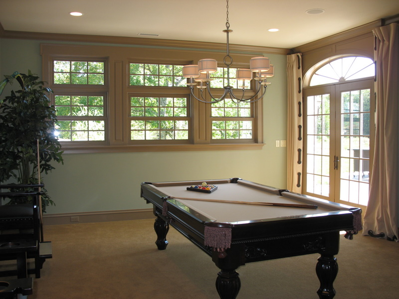 The lower level has plenty of room for a pool table.