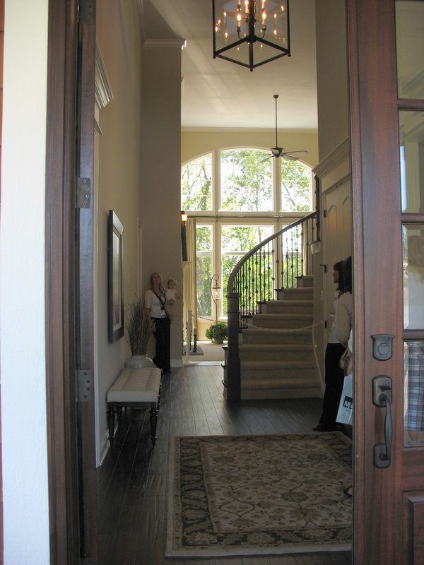 Entering the home.