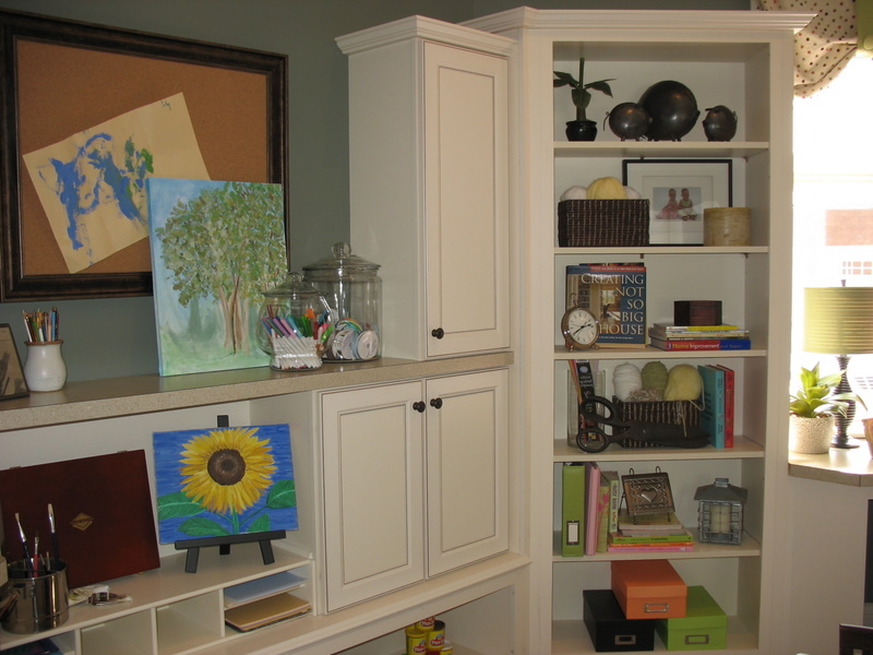 "Mudroom doubles as a ""craft room."""