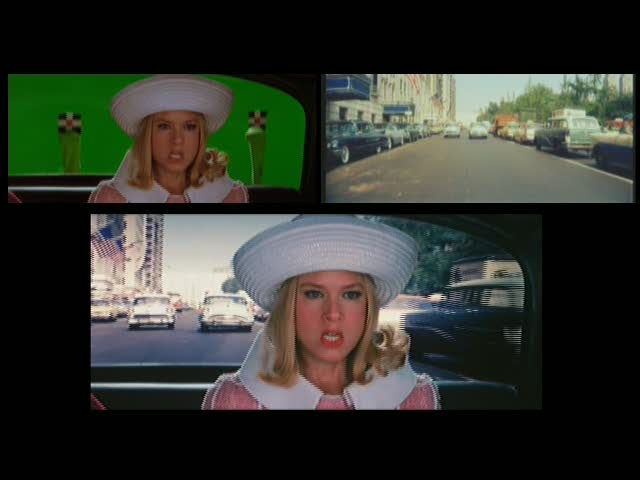 "The producers used street scenes from the Doris Day movie ""Touch of Mink"" when Barbara rides in a taxi (from the special features on the DVD)."