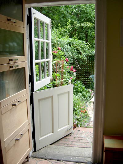 Hooked on dutch doors hooked on houses for Exterior back door with window that opens