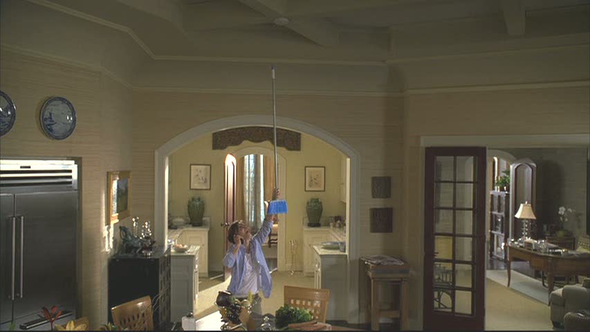 I was excited when Nora's smoke detector went off in one episode because the camera looked up to reveal these amazing ceilings!
