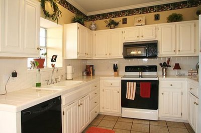 A kitchen before remodel