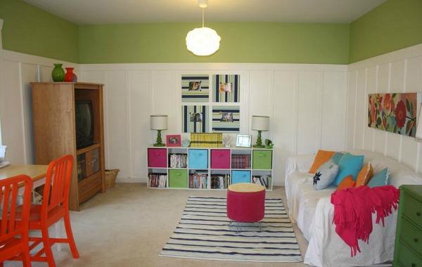 wide shot of playroom