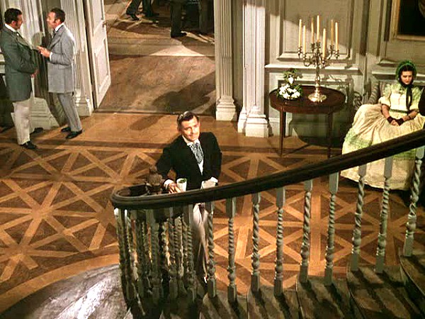 Gone with the Wind Rhett Butler bottom of stairs