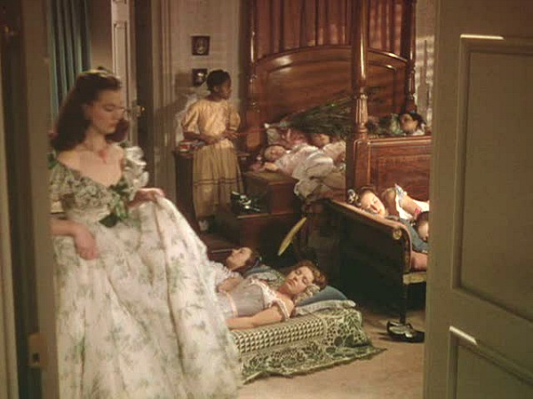Gone with the Wind Twelve Oaks bedroom naptime