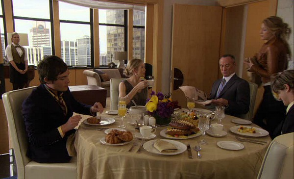 Gossip Girl TV show sets dining room