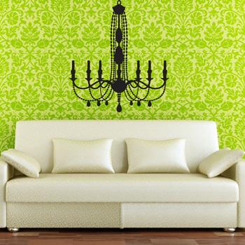 dali decals chandelier - Wall branch chandelier