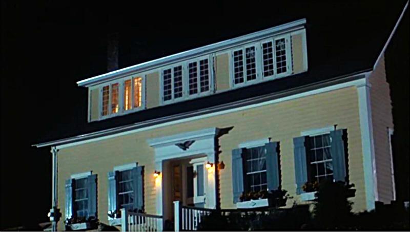 Baby Boom house Peru Vermont at night