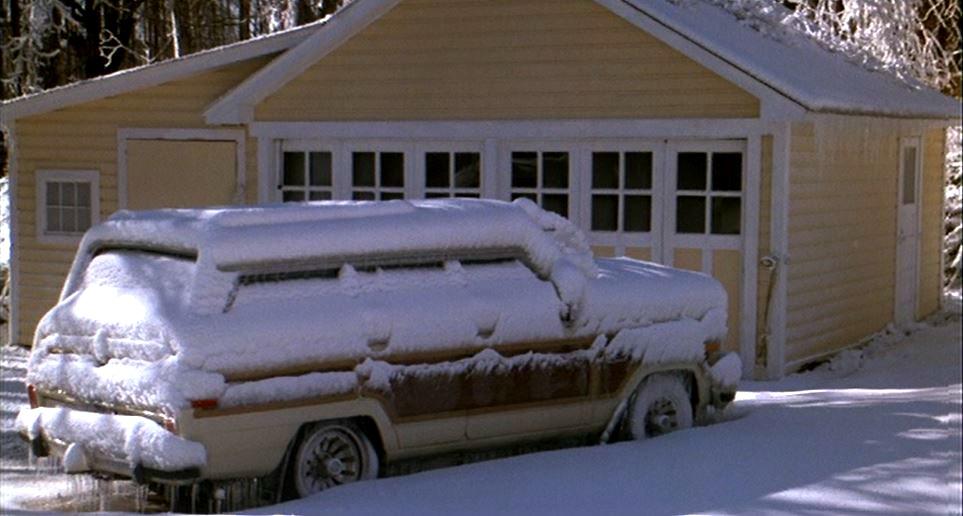 Baby Boom movie garage in snow