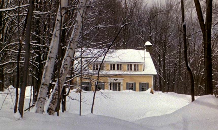 Baby Boom movie house in the snow