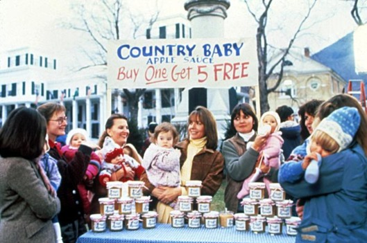 Country Baby applesauce Baby Boom publicity shot