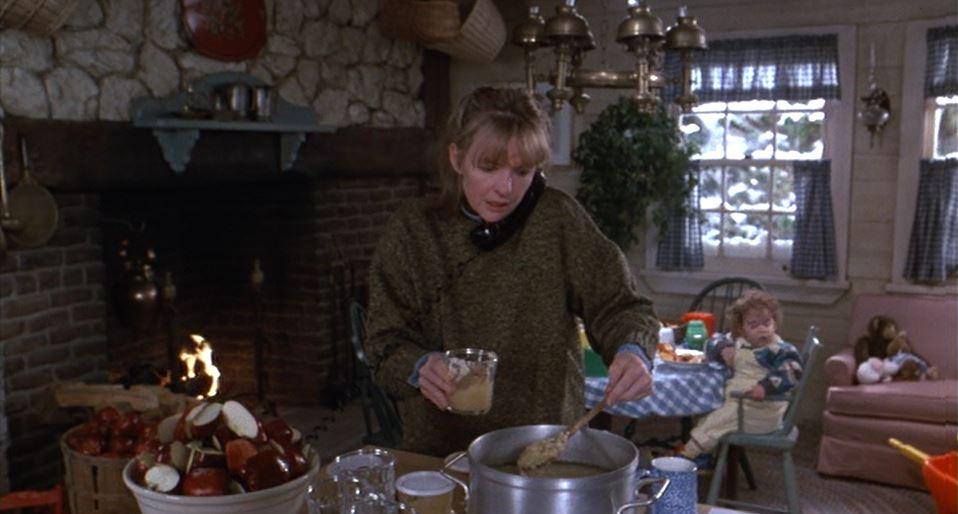 Diane Keaton making applesauce Baby Boom movie