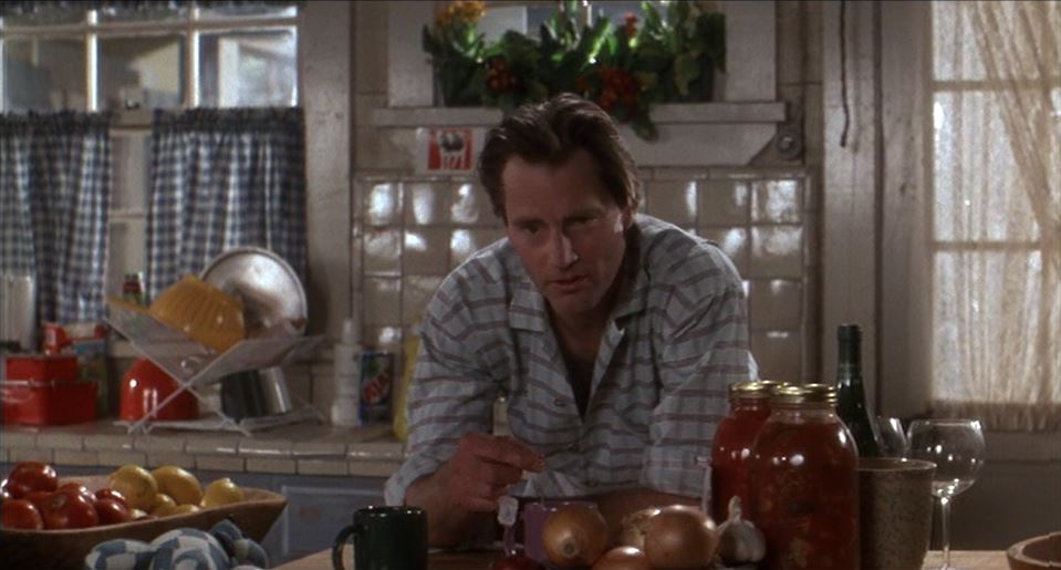 Sam Shepard in Baby Boom kitchen