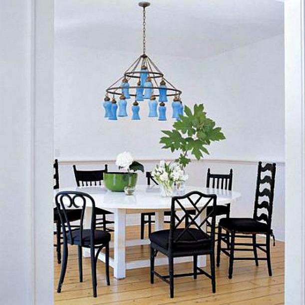 Sarah Jessica Parker Hamptons dining room