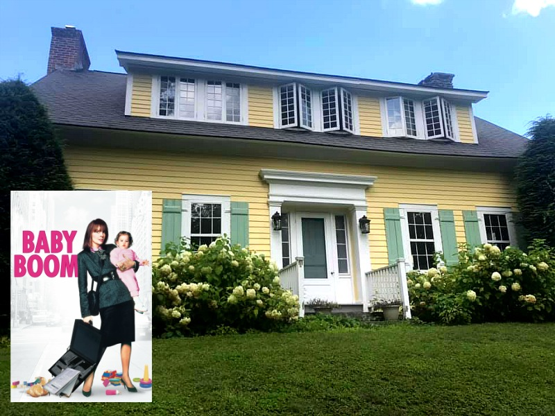 cottage tropical home decorating ideas.htm diane keaton s yellow house in the movie  baby boom   baby boom