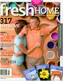 Fresh Home Magazine, Mint Pillows, and a Book Giveaway
