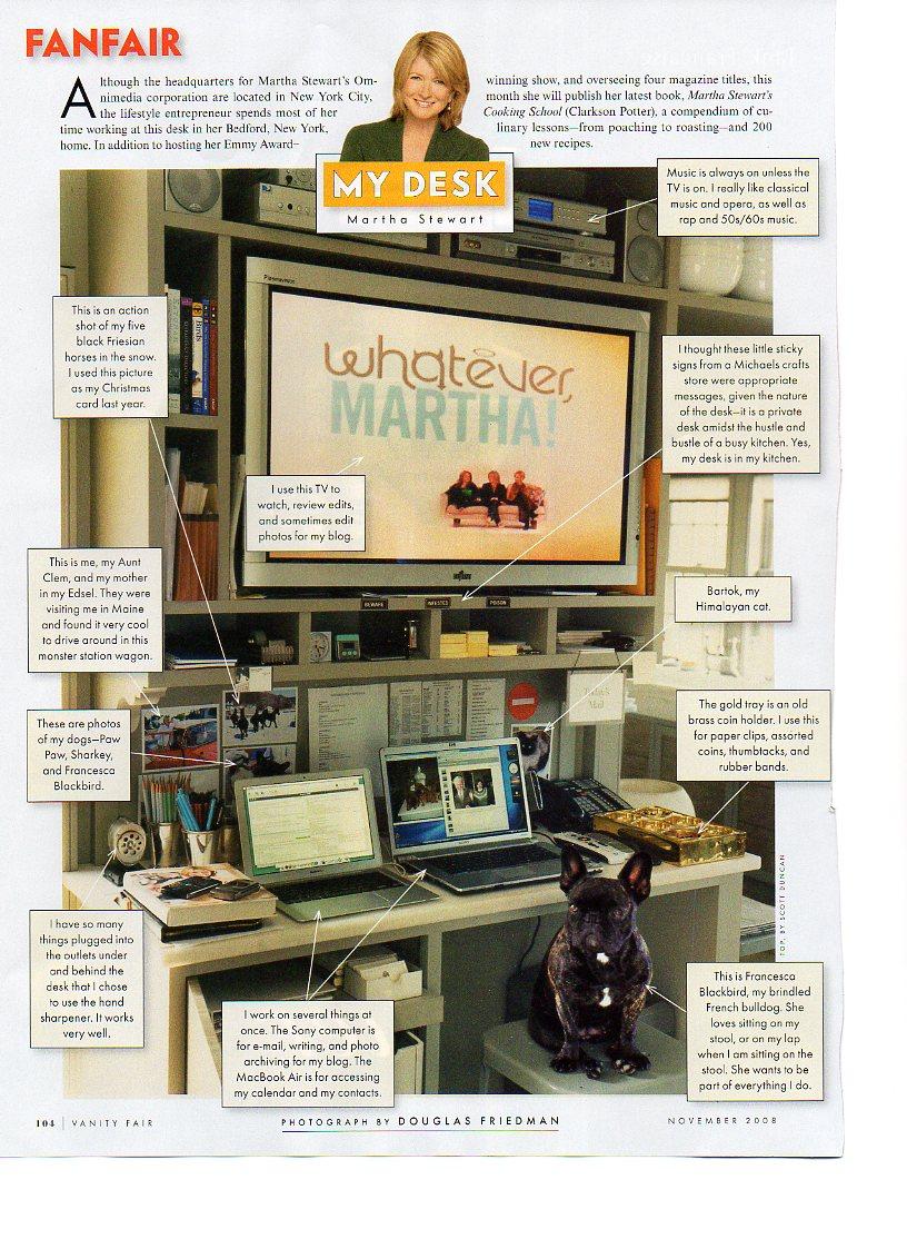 Martha Stewart's Home Office